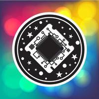 chip de processador de computador vetor