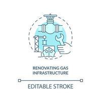 renovando o ícone do conceito de infraestrutura de gás vetor
