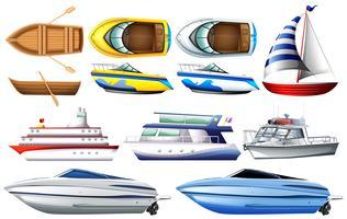 Barcos vetor