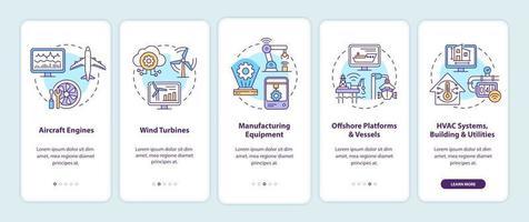 tela de página de aplicativo móvel de integração de aplicativo duplo digital vetor