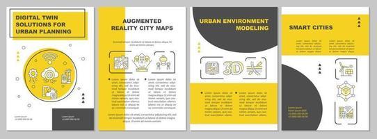 soluções duplas digitais para modelo de folheto de planejamento urbano vetor