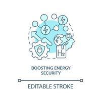 impulsionando o ícone do conceito de segurança energética vetor