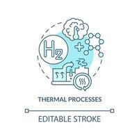 ícone do conceito de processos térmicos vetor
