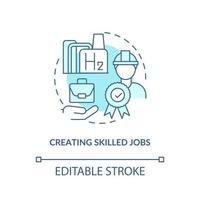 ícone do conceito de criação de empregos qualificados vetor
