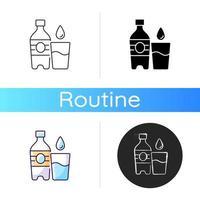 ícone de água. hidratação para fitness vetor
