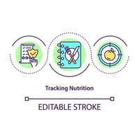 ícone de rastreamento de conceito de nutrição vetor