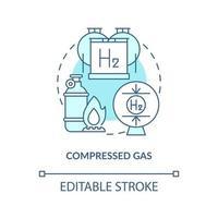 ícone do conceito de gás comprimido vetor