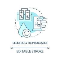 ícone do conceito de processos eletrolíticos vetor