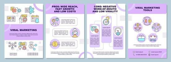 modelo de folheto de marketing viral vetor