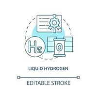 ícone do conceito de hidrogênio líquido vetor