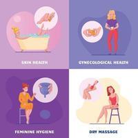 ilustração vetorial de design de conceito de higiene feminina vetor
