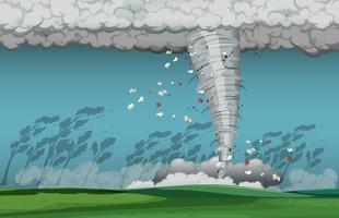 Um ciclone na natureza vetor