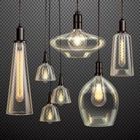 ilustração vetorial realista de lâmpadas vetor