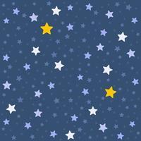 padrão sem emenda com céu noturno vetor
