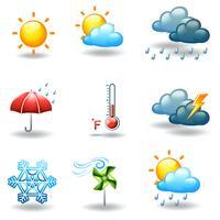 Condições climáticas diferentes vetor
