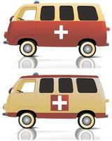 ilustração vetorial design de ambulância vetor