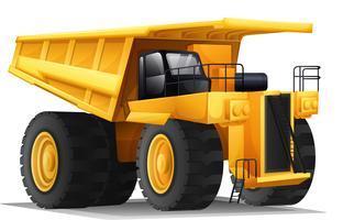 Um caminhão pesado vetor