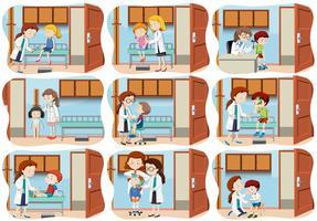 Um conjunto de cuidados de saúde para crianças vetor