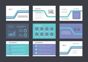 design de guia de brochura de apresentação de negócios ou controle deslizante de vendas de apresentação de negócios vetor