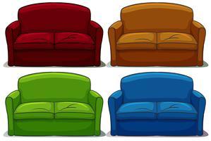 Conjunto de sofá vetor