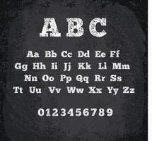 Vetorial, ilustração, de, riscado, alfabeto vetor