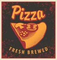 banner com fatia de pizza vetor