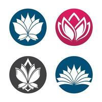 imagens de logotipo de lótus de beleza vetor