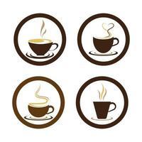 imagens do logotipo da xícara de café vetor