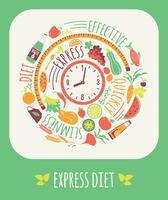 Ilustração em vetor de dieta expressa.