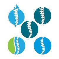 imagens do logotipo da espinha vetor