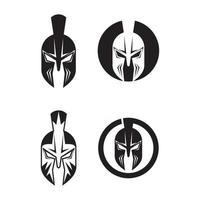 ilustração de imagens de design de logotipo espartano vetor
