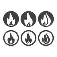 imagens do logotipo do fogo vetor