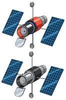 Um conjunto de satélites vetor