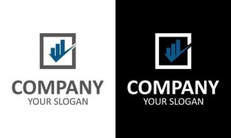 logotipos de imóveis - edifícios e um símbolo de tique ou tique. ícone de vetor de indústria imobiliária, construção ou indústria da construção civil.