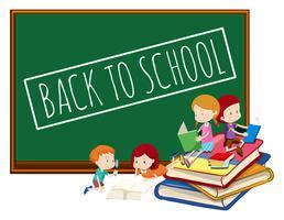 Quadro-negro de volta ao modelo da escola vetor