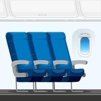 Um layout do assento do avião vetor