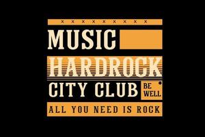 design de tipografia de música hard rock vetor