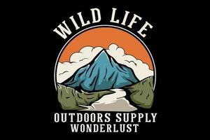 vida selvagem ao ar livre fornecer design desenhado à mão wanderlust vetor