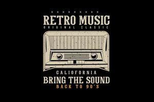 retro música original roupas tipografia design estilo vintage retro vetor