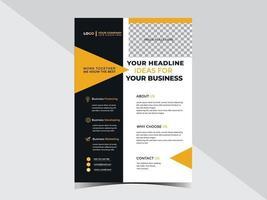 modelo de design de folheto corporativo multiuso vetor