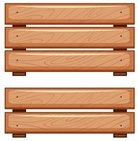 Tábuas de madeira no fundo branco vetor