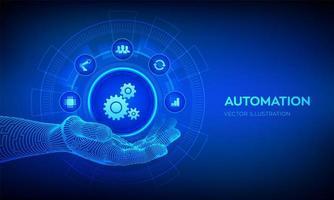 conceito de software de automação e iot como inovação vetor