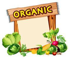 Sinal orgânico com legumes misturados vetor
