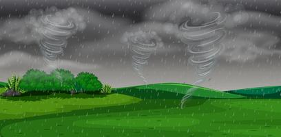 Uma tempestade à noite