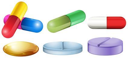 Comprimidos médicos vetor