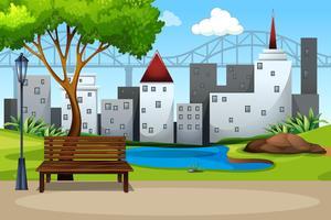 Um parque natural urbano vetor