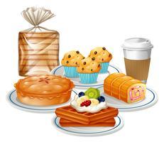 Conjunto de café da manhã vetor