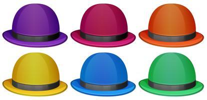 Chapéus coloridos vetor