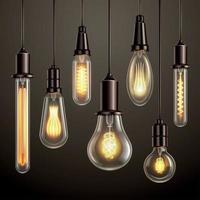 ilustração vetorial conjunto realista de lâmpadas vetor