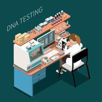 ilustração em vetor genética isométrica